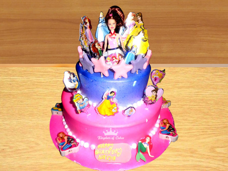 Unwind Princess Kingdom Tiers Cake